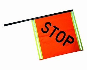 Reflective STOP/STOP Flag