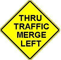 thru traffic merge left
